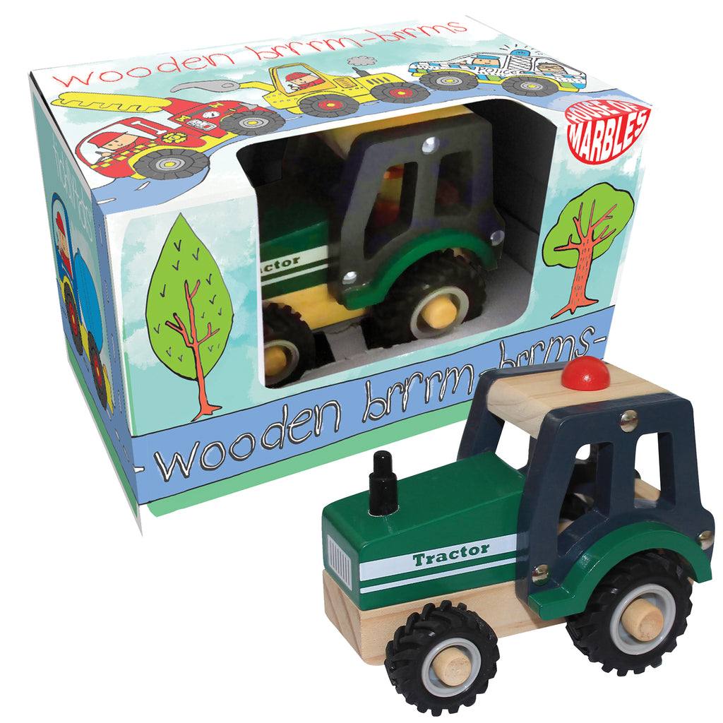 Wooden Brrm-Brrms Work Vehicles - Tractor