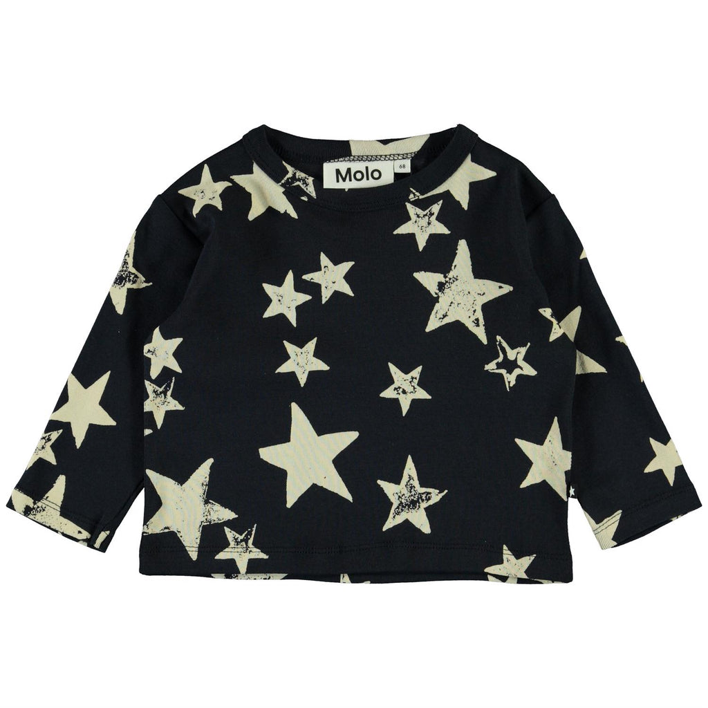 Elvo White Navy Star Top
