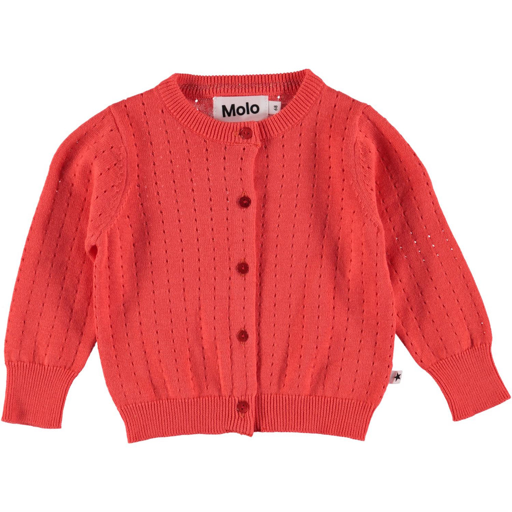Ginny Cardigan - Hot Coral