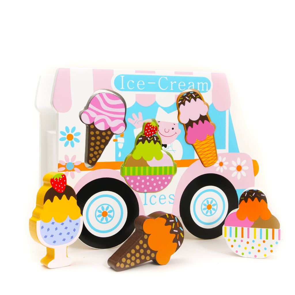 Wooden Ice Cream Van Shape Sorter