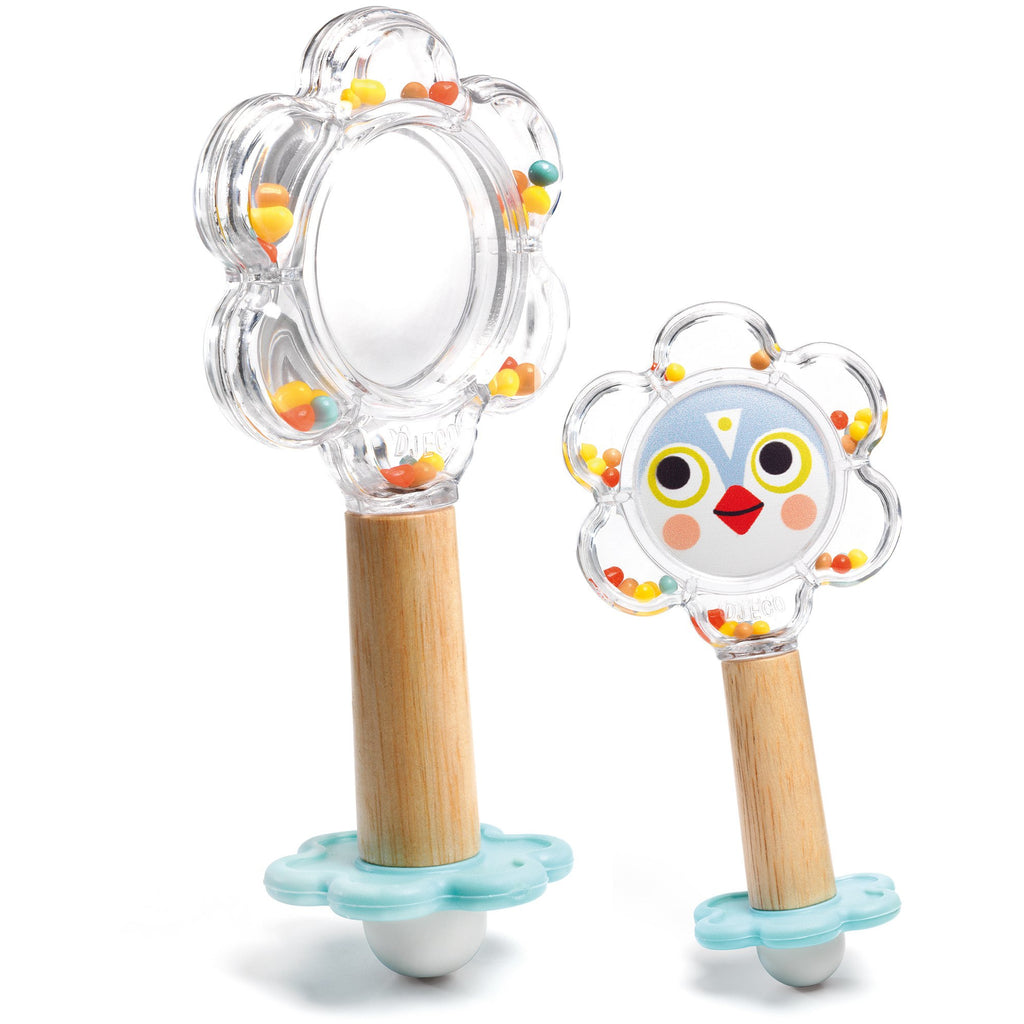 Djeco Baby Flower Mirror Rattle