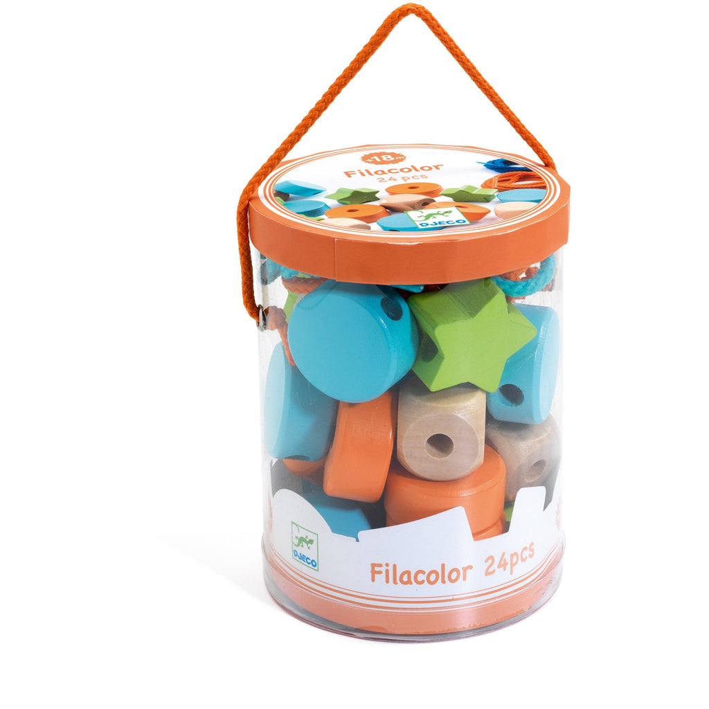 Filacolor Lacing Beads 24 pcs by Djeco
