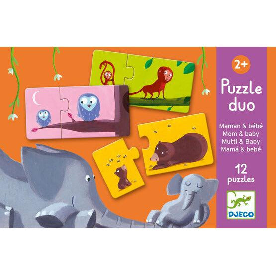 Djeco Puzzle Duo - Mom & Baby