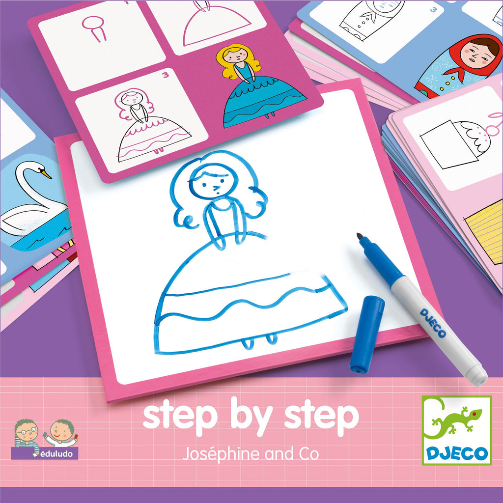 Learn To Draw - Djeco Step By Step Josephine