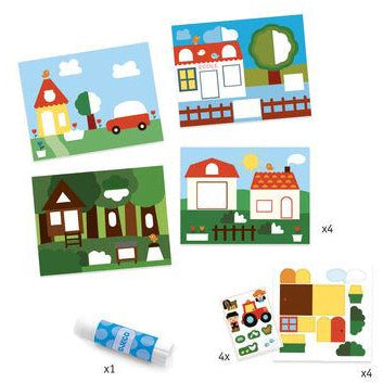 Folding & Stickers Set - Hide and Seek