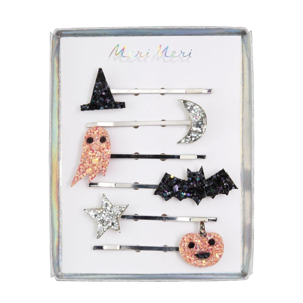 Halloween Icons Glitter Hair Slides