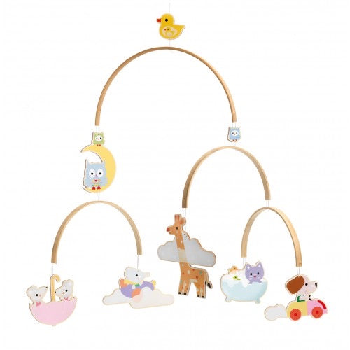 Wooden Mobile Baby Animals Djeco