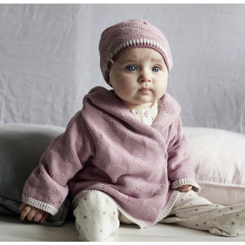 Dawn Pink Hooded Baby Cardigan