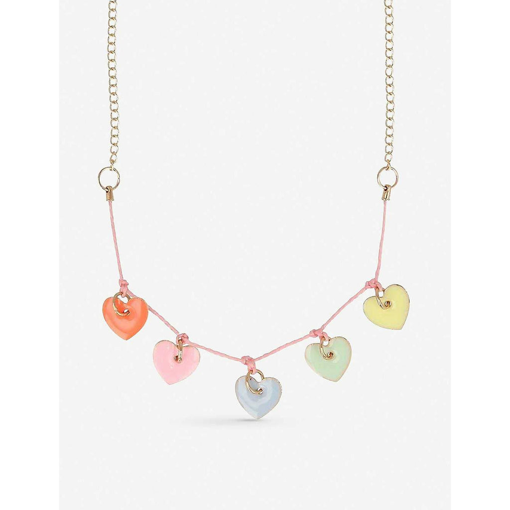 Heart Enamel Charm Necklace