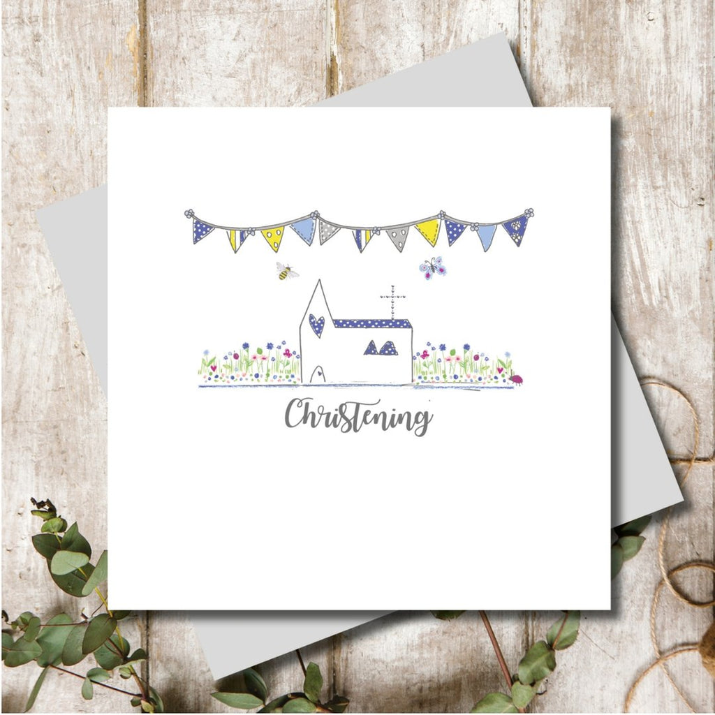 Christening Card Blue
