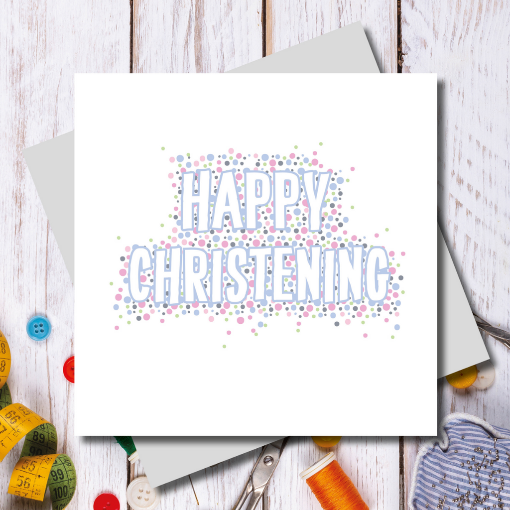 Happy Christening Card