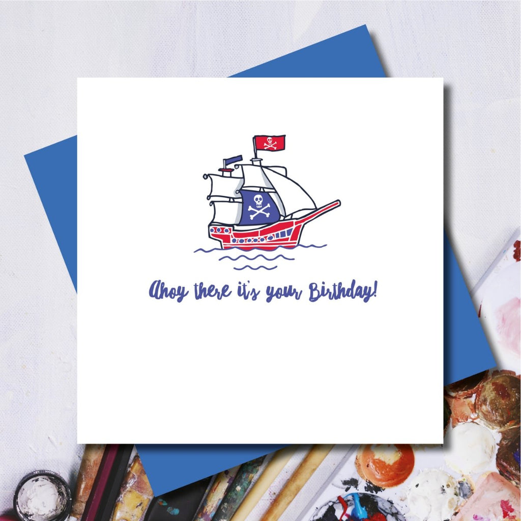 Ahoy There Birthday Card
