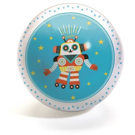 Djeco - 4 inch Small Ball - Funky Robots