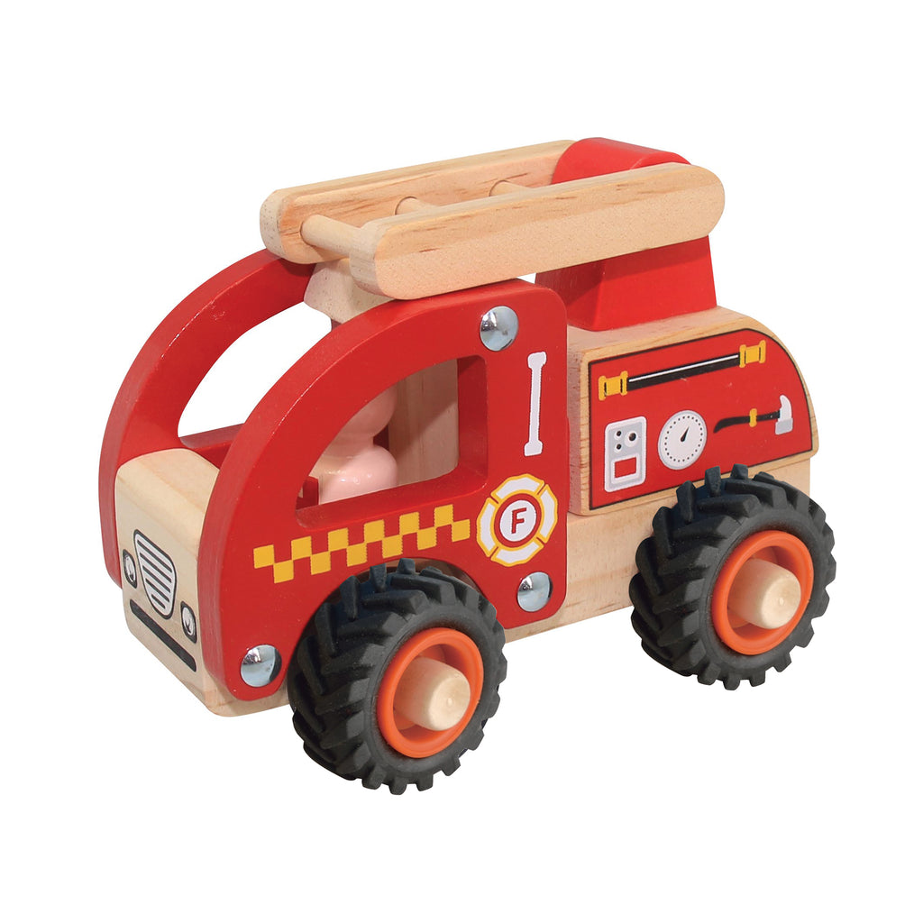 Wooden Brrrm Brrrm Emergency Vehicles - Fire Engine