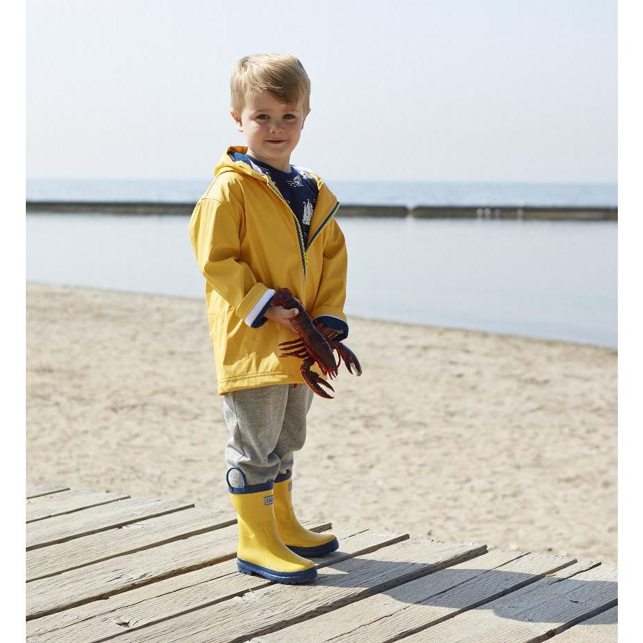Yellow With Navy Stripe Lining Splash Jacket