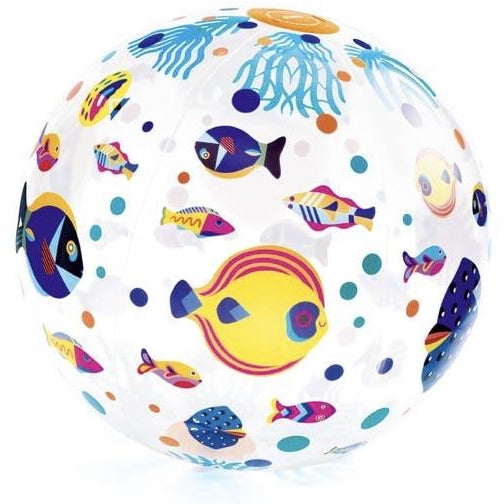 Djeco Outdoors - Fishes Inflatable Ball
