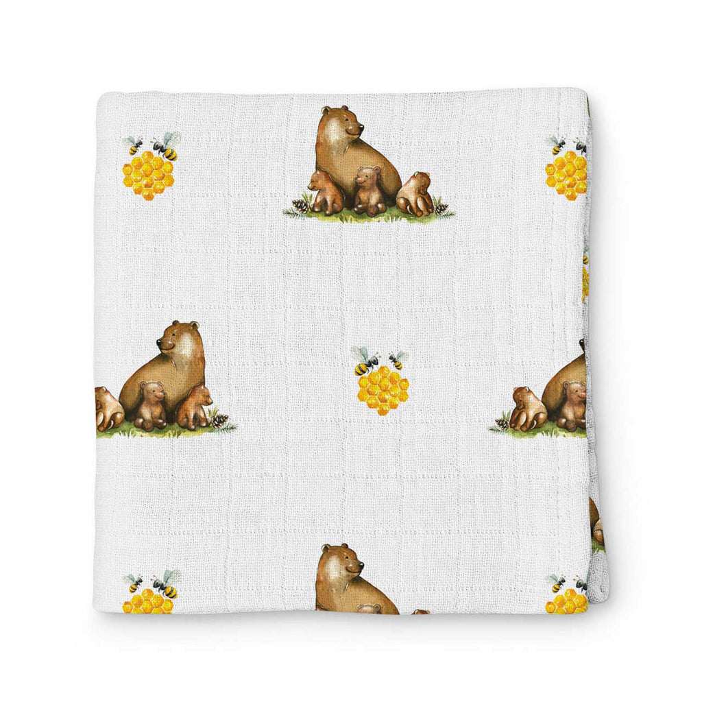 L'Ours Muslin Throw 100X100 cm