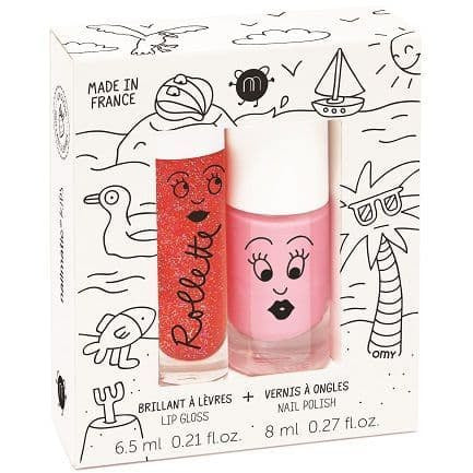 nailmatic® kids - Rollette & Lip Gloss Polish Duo - HOLIDAYS