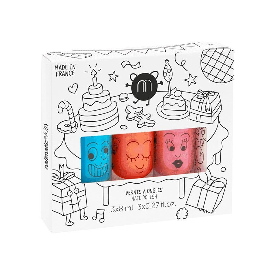 Party Set Of Three Neon Nail Polishes - NeonNailmatic® kids