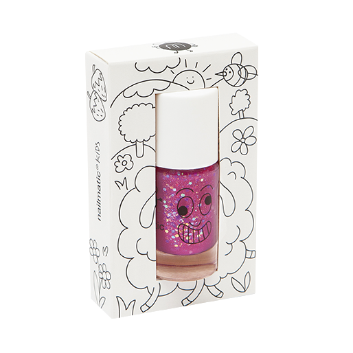 Sheepy (Raspberry Glitter) - nailmatic® kids - water based nail polish