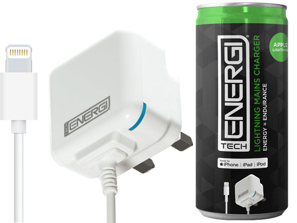 Tech Energi® Apple Lightning Mains Charger