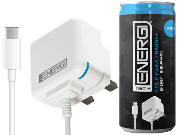 Tech Energi® USB-C Mains Charger