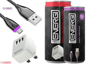Tech Energi® Micro USB Family Triple Pack