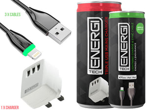 Tech Energi Apple Family Triple Pack