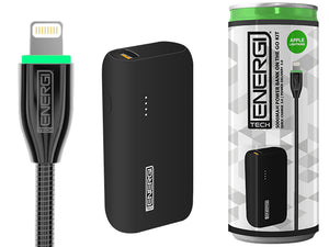 Tech Energi® TE50 PD (Power Delivery) Lightning 5000mAh Power Bank On the Go Kit