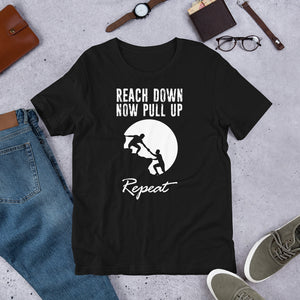 "Men's Short-Sleeve  T-Shirt ""Reach Down"""
