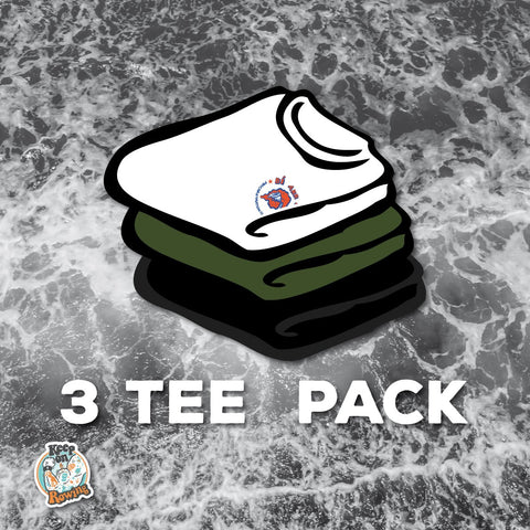 KEEP ON ROWING! 3 T-SHIRT PACK