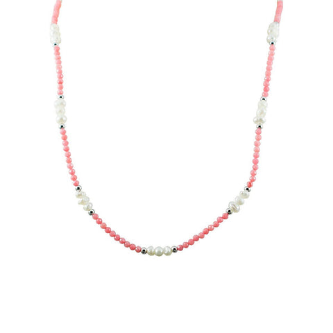 Chocker Mini Coral Ródio - anilu bijoux