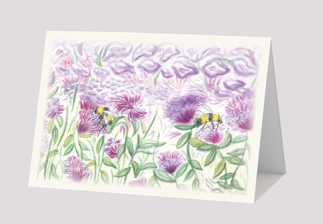 """Buzzing Through Thyme Blossoms"" Card"