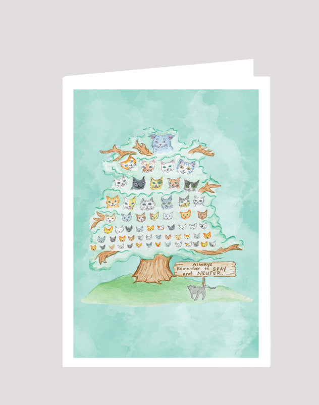 """Always Spay and Neuter"" Card"