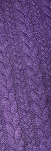Purple Cable Knit Snood