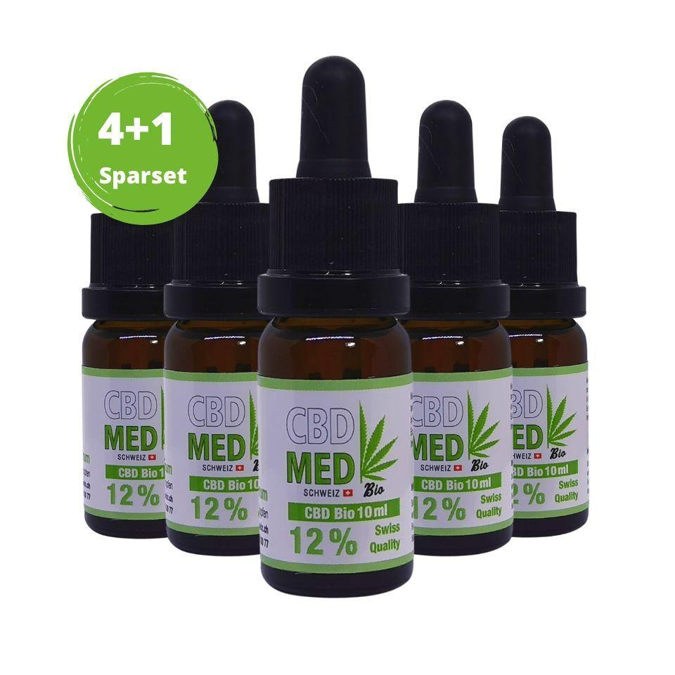 Load image into Gallery viewer, 4+1 Aktion 12% CBD-Tropfen 10ml - CBD MED Schweiz