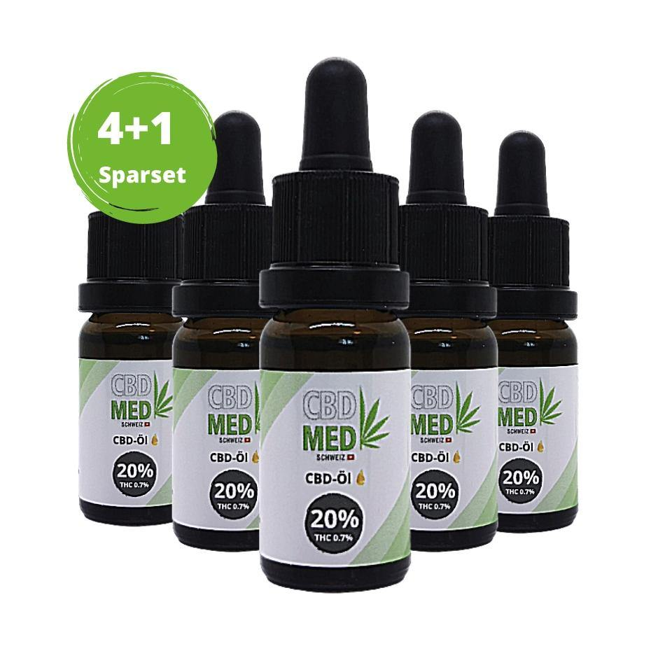 4+1 Aktion 20% CBD-Tropfen 10ml