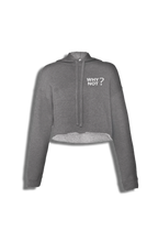 Load image into Gallery viewer, Why Not? Crop Top Hoodie