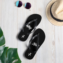 Load image into Gallery viewer, Why Not? Black Flip Flops