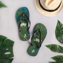Load image into Gallery viewer, Why Not? Tropical Flip Flops