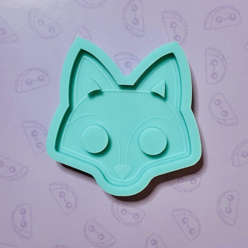 Fox Keychain Silicone Mold, 3.75in, Self Defense Keychain - TACO MOLDS