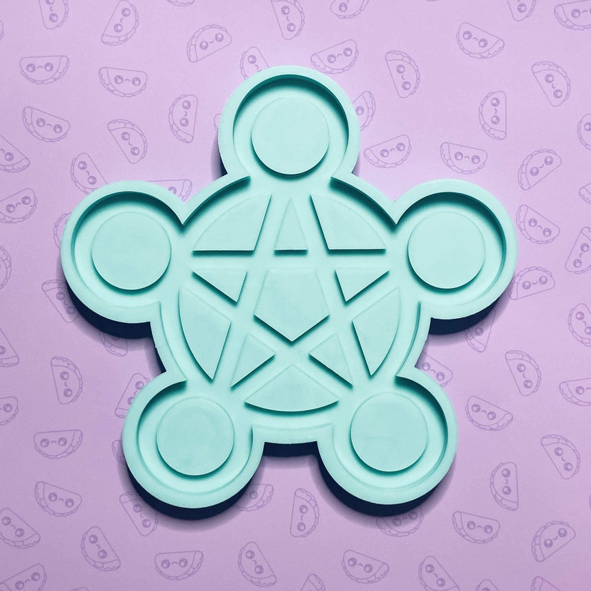 Pentagram Tea Light Candle Holder Silicone Mold - TACO MOLDS
