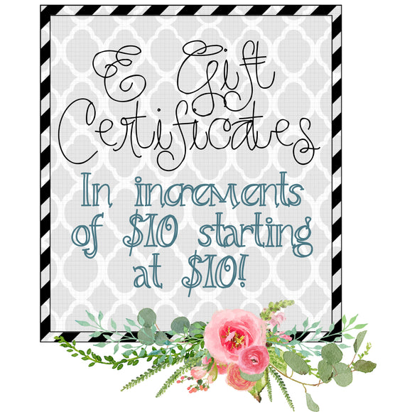 Rag Tag Gift Certificates