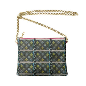 Green Plaid Crossbody Bag