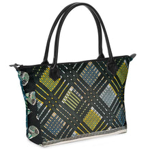 Load image into Gallery viewer, Green Plaid Tote Bag