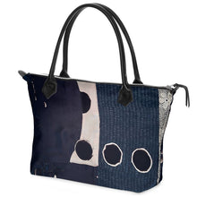 Load image into Gallery viewer, Navy Dot Tote Bag