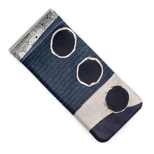 Load image into Gallery viewer, Navy Dot Glasses Case