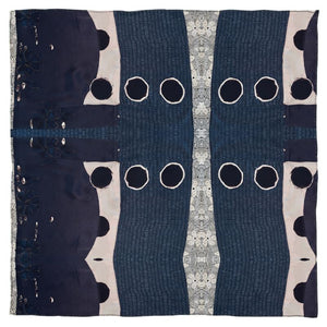 Navy Dot Square Scarf