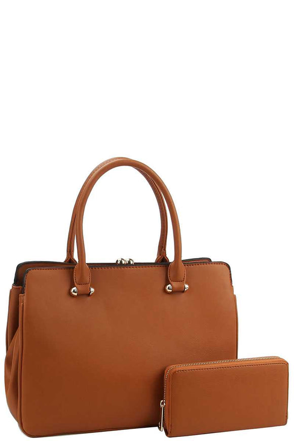 2in1 Sleek Satchel With Matching Wallet