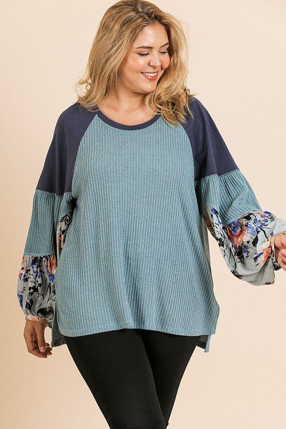 Penelope Floral Long Sleeve Knit Top